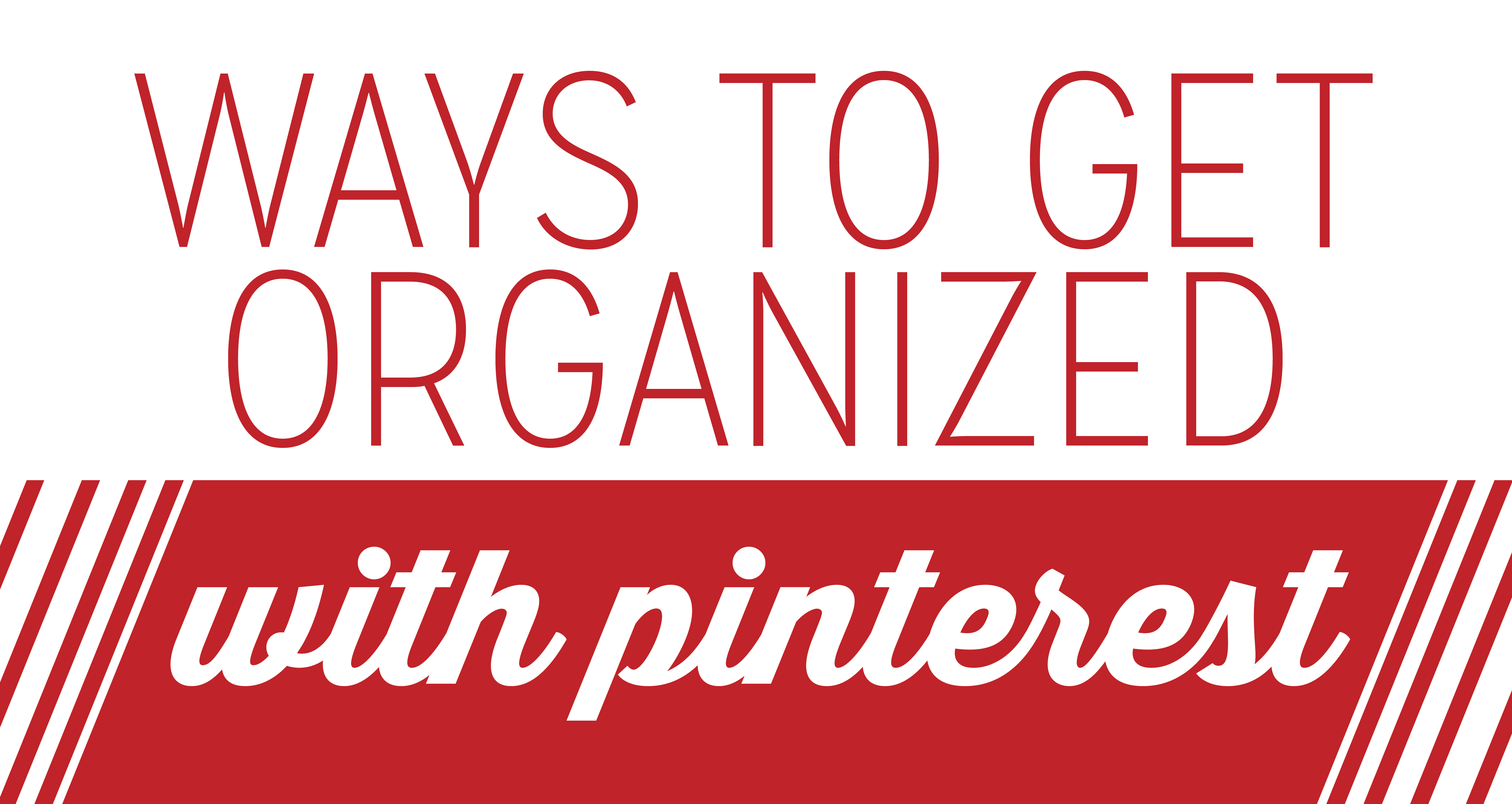 kicking out the clutter with Pinterest